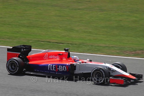 Will Stevens in qualifying for the 2015 British Grand Prix at Silverstone