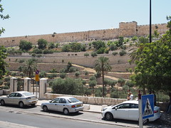 In East Jerusalem watching The Wall to The temple mount!