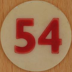 Bingo Number 54 (Leo Reynolds) Tags: xleol30x squaredcircle number numberbingo xsquarex bingo lotto loto houseyhousey housey housie housiehousie numberset group9 54 groupnine sqset120 50s canon eos 40d xx2015xx xxtensxx sqset