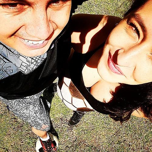 #futbol #familiafeliz #selfieaerea #balonesdefutbol #papitos