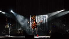 Esperanza Spalding at Celebrate Brooklyn (UrbanphotoZ) Tags: nyc newyorkcity ny newyork brooklyn night prospectpark drummer guitarist enclosure spotlights driedflowers redboots 5stringbass celebratebrooklyn hairornament esperanzaspalding