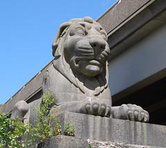 Stephenson's lions (beqi) Tags: bridge history wales menai 2015 britanniabridge