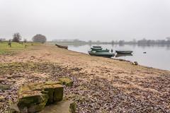 Weurt-131 shoreline (stevefge) Tags: grindgat landscape weurt water lakes mist winter boats nederland netherlands nederlandvandaag nl gelderland calm reflectyourworld