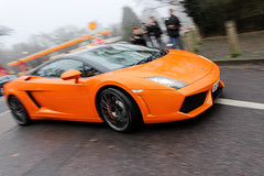 2012 Lamborghini Gallardo LP 560-4. (dementedb43) Tags: icons by the lake autoiconica supervettura virginia water surrey 2016 december supercar lamborghini gallardo lp5604 2012 arancio borealis