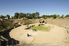 Roman Ruins - Merida Spain (rschnaible) Tags: merida spain espana europe old history historical ancient roman amphitheater building architecture sightseeing tour tourist touring outdoor