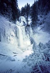 Never just the same ol' waterfall (Zeb Andrews) Tags: innova6x9 pinhole lensless fallscreekfalls washington coldsnap winter icy frozen waterfall landscape pacificnorthwest kodakektar100