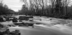 Haw at 30 Seconds (cwhitted) Tags: hawriver chathamcounty longexposure bw blackwhite blackandwhite monochrome canon eos canoneos7dmarkii canonefs1855mmisstm