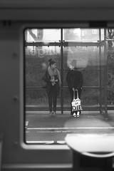 L1023075 (Sigfrid Lundberg) Tags: lund people lundc railwaystation girls sweden skåne railway railwaytracks leica aposummicronm 50mmf20asph trainwindow aposummicronm50mmasph