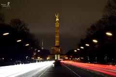 Siegessäule, Berlin erbaut 1864 - 1873 (Thorsten Mothes) Tags: siegessäule berlin wahrzeichen heinrichstrack einigungskriege viktoria goldelse