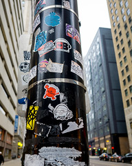 Stuck (RW Sinclair) Tags: 19mm 2017 art artlens chicago january sigma sony winter a6000 alpha csc digital milc mirrorless street urban illinois city stickers streetart