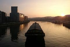 La Meuse (Liège 2016) (LiveFromLiege) Tags: liège liege liegi luik lüttich lieja wallonie belgique belgium meuse sunset river architecture city boat péniche peniche contrejour