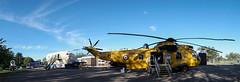 XZ592 Sea King pano, Kinloss (wwshack) Tags: aircraftmuseum an2 kinloss moray morayvia nimrod scotland seaking xz592 panorama