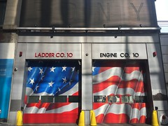 FDNY Tenhouse (sponki25) Tags: fdny tenhouse tentruck engine 10 ladder liberty street wtc newyork nyc new york world trade center scott lobaido artwork