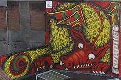 Dragon [3/365 2017] (steven.kemp) Tags: red dragon mural street art graffiti norwich lion debenhams