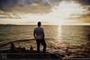 . (Paco Jareño Zafra) Tags: playa beach coast costa mar mediterraneo atardecer sunset españa spain islas baleares illes balears mallorca keep calm calma hombre reflexionando pensativo mirando al sol cielo canon
