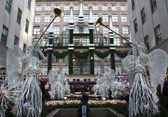 """Like the voice of many waters I can hear the angels sing"" - Roy Fields (Lidiya Nela) Tags: water fountain lights newyorkcity nyc street urban rockefellercenter christmas winter holidays city newyork angels"