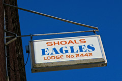 Eagles Lodge #2442, Shoals, IN (Robby Virus) Tags: shoals indiana eagles lodge fraternal organization foe order building sign signage aerie 2442