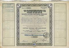 """""""INVEST"""" (scripofilia) Tags: 1956 azioni invest"""