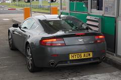 Aston Martin V8 Vantage (D's Carspotting) Tags: aston martin v8 vantage france coquelles calais grey 20100613 hy06auw le mans 2010 lm10 lm2010