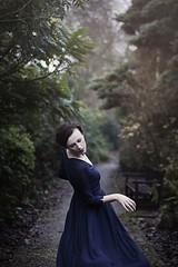 Secret garden (bernadetakupiec) Tags: 50mm canon dress forest naturallight outdoor portrait trees woman secretgarden garden