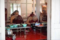 30099738 (wolfgangkaehler) Tags: 2017 asia asian southeastasia myanmar burma burmese mandalay mahagandayonmonastery mahagandayonmonastary people person monks buddhist buddhistmonasteries buddhistmonastery buddhistmonk buddhistmonks almsceremony almsbowls meal eating