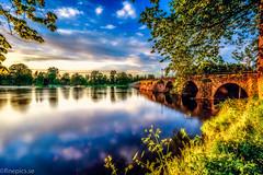 Karlstad III (johan.bergenstrahle) Tags: longexposure bridge sunset reflection architecture creek landscape evening may karlstad bro hdr maj arkitektur solnedgång landskap 2015 finepics långtid