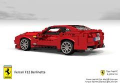 Ferrari F12 Berlinetta (2012) (lego911) Tags: auto italy sports car model italian lego render anger ferrari management coupe supercar challenge 91 cad sportscar 2012 lugnuts povray f12 pininfarina v12 moc berlinetta ldd angermanagement miniland lego911 f12berlinetta