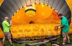 1st Bloom and Glow (WayNet.org) Tags: park art nature us unitedstates misc balloon indiana places things richmond event hotairballoon locations transporation waynecounty glenmillerpark richmondrosegarden waynet 1stbloomglow