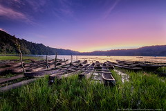 Tamblingan Lake-0480 (franciscus nanang triana) Tags: morning travel bali lake grass sunrise indonesia landscape boat photo foto fujifilm perahu pagi denpasar triana matahari danau nanang franciscus rumput tamblingan buleleng terbit