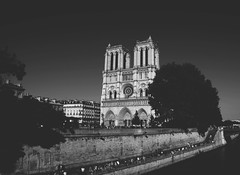 NotreDame (lauratintori) Tags: bridge panorama white black art monument river photography photo nikon view gray picture pic scene notredame pointofview pairs lovely notre dame ph weekendinparis parigi nocolor spectacularview whitemonument d5100 nikond5100 lauratintoriph