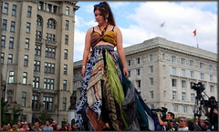 So stylish in silks (* RICHARD M (Over 8 MILLION VIEWS)) Tags: street candid theverybigcatwalk liverpool pierhead europeancapitalofculture capitalofculture maritmemercantilecity onemagnificentcity fashions fashionshow style stylish silk silks model modelling catwalk merseyside pretty classy silkscarves femininity