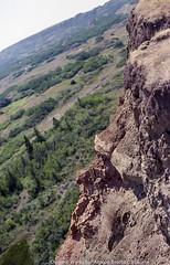 Dru Island Bufallo Jump (LordTez) Tags: red island 50mm jump nikon kodak dry deer alberta 400 f18 iso320 bufallo fm2n ultramax eseries pokorra