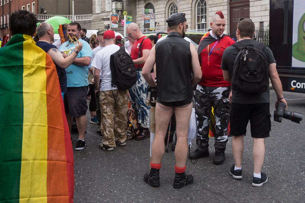 DUBLIN 2015 LGBTQ PRIDE FESTIVAL [PREPARING FOR THE PARADE] REF-106221