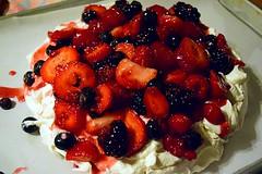 Pavlova: It's What's for Dessert (jjldickinson) Tags: nikond3300 102d3300 nikon1855mmf3556gvriiafsdxnikkor promaster52mmdigitalhdprotectionfilter wrigley dessert food fruit berry strawberry blueberry baking pavlova longbeach