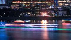 Tokyo Twilight 197 (Belteshazzar (AKA Harimau Kayu)) Tags: longexposure japan tokyo seaside cityscape shoppingmall bayarea odaiba urbanphotography urbanscenery asiannight tokyobayarea yakatabune urbanasia tokyoskyline partyboats brightlightbigcity tokyoseaside tokyotwilight