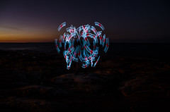 Red in Blue (Rantz) Tags: longexposure beach australia darwin poi pois northernterritory poispinning ledpoi rantz ledpois playingwithpoi