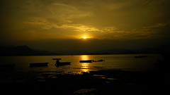 Beautiful Sunset 2015.07.05 (crystalchan777) Tags: life sunset sea sun mountains reflection beach water sunshine yellow clouds boats golden landscapes shadows cloudy enjoy fields colourful waterscape beachscape sunsetphotography loveclouds cloudscollection cloudsphotography