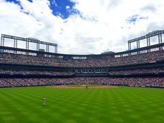 Rockies vs. Reds (f l a m i n g o) Tags: summer game sports sport rockies colorado baseball july 26th iphone