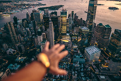 MVMT Watch over New York City (BrendanBannister) Tags: new york city long exposure sunset sunflare brookyln manhatten flynyon nyonair helicopter aerial photography subway backdrop bokeh