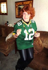 Supporting The Lads In Green And Gold (Laurette Victoria) Tags: jersey packers woman auburn laurette leggings