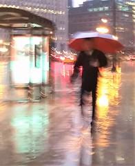Tuesday (michael.veltman) Tags: tuesday walk in the rain wacker drive man umbrella