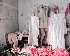 """We are what we pretend to be"" (sadandbeautiful (Sarah)) Tags: me woman female self selfportrait abandoned pink art urbex"
