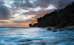 20160727_Rimpac_45 (LJB Photo) Tags: 433etac beach bracketing cloud eau hdr hawaii honolulu ljbluigi landscape lighthouse nuage paysage phare plage rimpac soleil sunset usa water