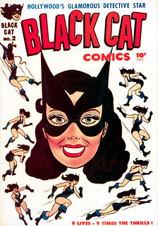 Black Cat Comics #2 (1946), cover by Joe Simon