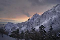 雪嶽山 (何神) Tags: 冬 韓國 旅行 日落 雪景
