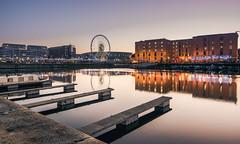 Dusk at the Docks (AJFStuart) Tags: liverpool merseyside wheel dock albert albertdocks salthousedocks dusk sunset