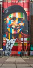 Eduardo Kobra paints Anne Frank