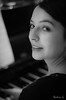 """A little air of piano"" ... (beatriceguilbaud) Tags: femme musicienne piano visage bw nikon nikond5300"