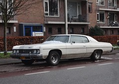 Chevrolet Impala Custom Coupé 30-6-1973 XP-ZF-91 (Fuego 81) Tags: chevrolet impala custom coupé 1973 xpzf91 sidecode5 pekelbak snow sneeuw winter
