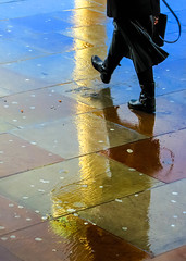 BRYAN_20161118_IMG_9951 (stephenbryan825) Tags: limestreet liverpool abstracts color graphic multicoloured pavement people rain reflection selects steps vivid walking wetpavement